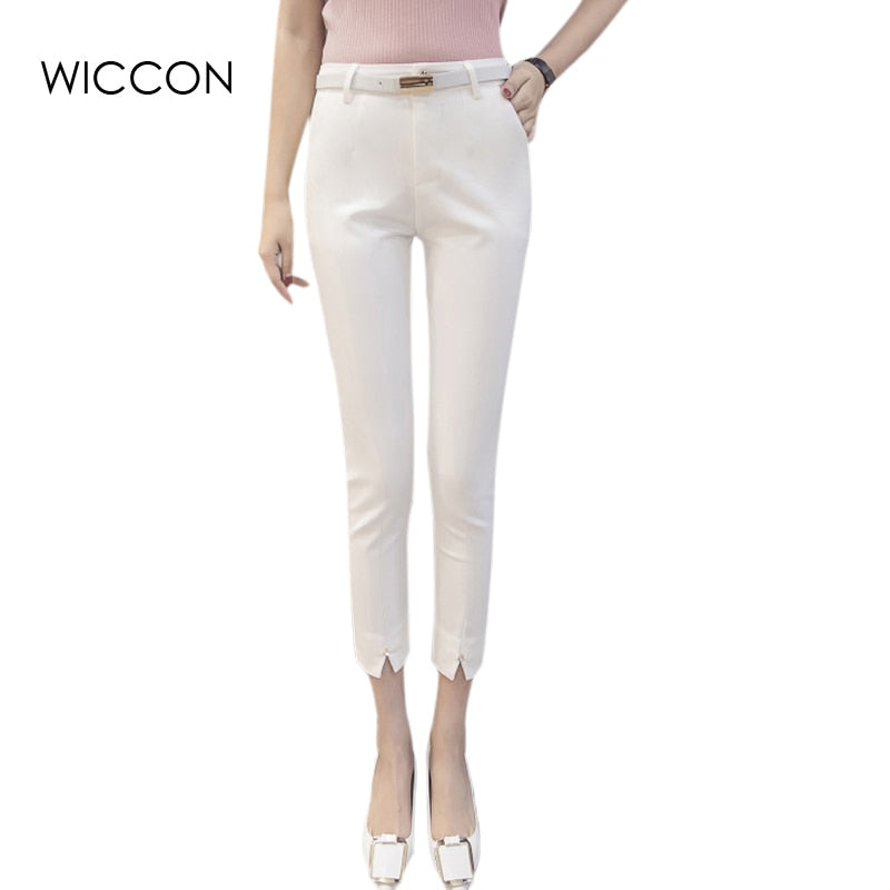 Work Wear Slim Stretch Pencil Pants Trousers Female bottoms