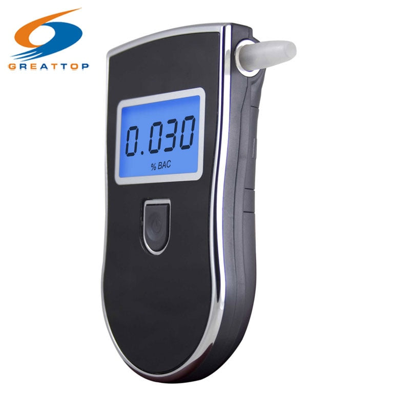 Meter Prefessional Police Digital Breath Alcohol Tester Gadget 10 pc