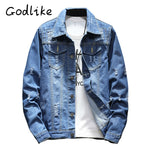 Men's fashion casual jacket, teenage denim jacket,