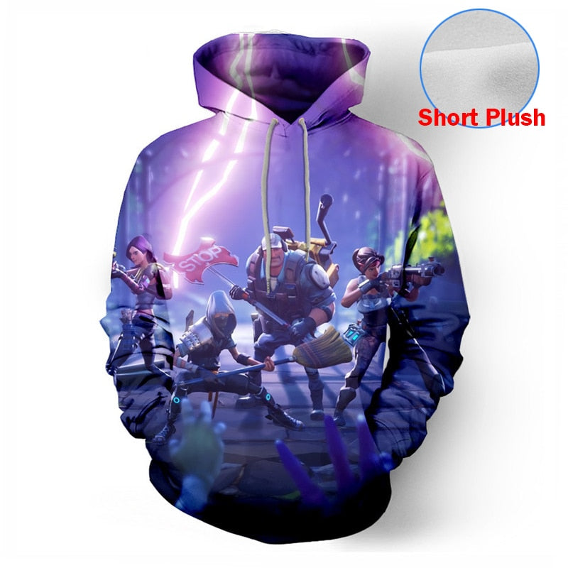 Game 3D Hoodies Men Streetwear Hip Hop Warm Hoody Sweatshirts