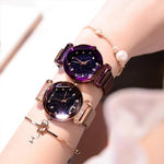New Magnetic Watchband Engraved Women Watches