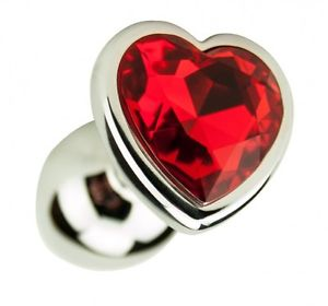 Small Red Heart Steel Butt Plug