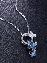 Load image into Gallery viewer, Beautiful Blue Butterfly Pendant Set from Genuine Swarovski Crystals