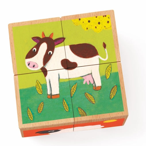 Farm 4 Cube Block Puzzle Meuh & Co