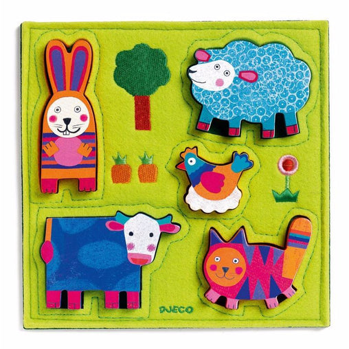 Djeco Farm Wooden and Felt Puzzle