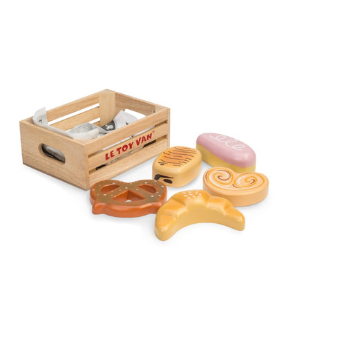 Le Toy Van Honeybake Market Crate Play Food Baker's Basket