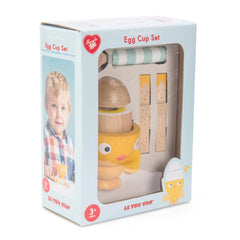 Le Toy Van Honeybake Chicky-Chick Egg Cup Set Packaging