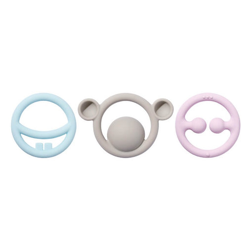 Moluk Nigi, Nagi & Nogi Pastel Colours Teething Rings
