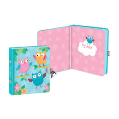 Peaceable Kingdom Lock and Key Diary Owls Open