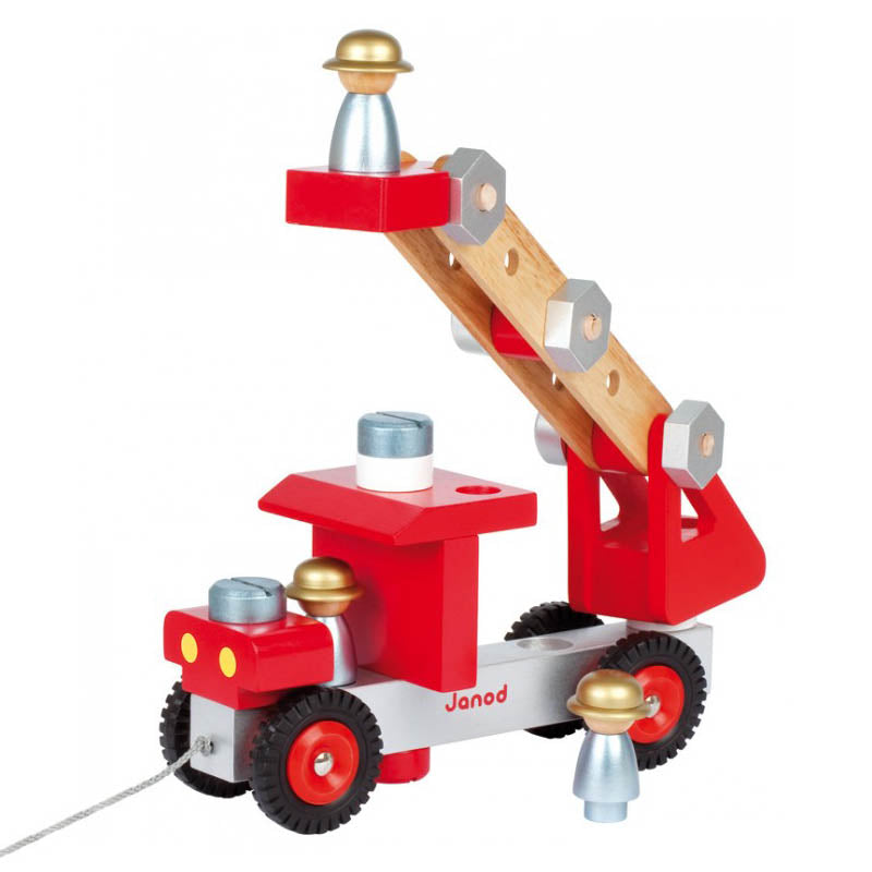 DIY Fire Truck Janod Wooden Toys JAN06498