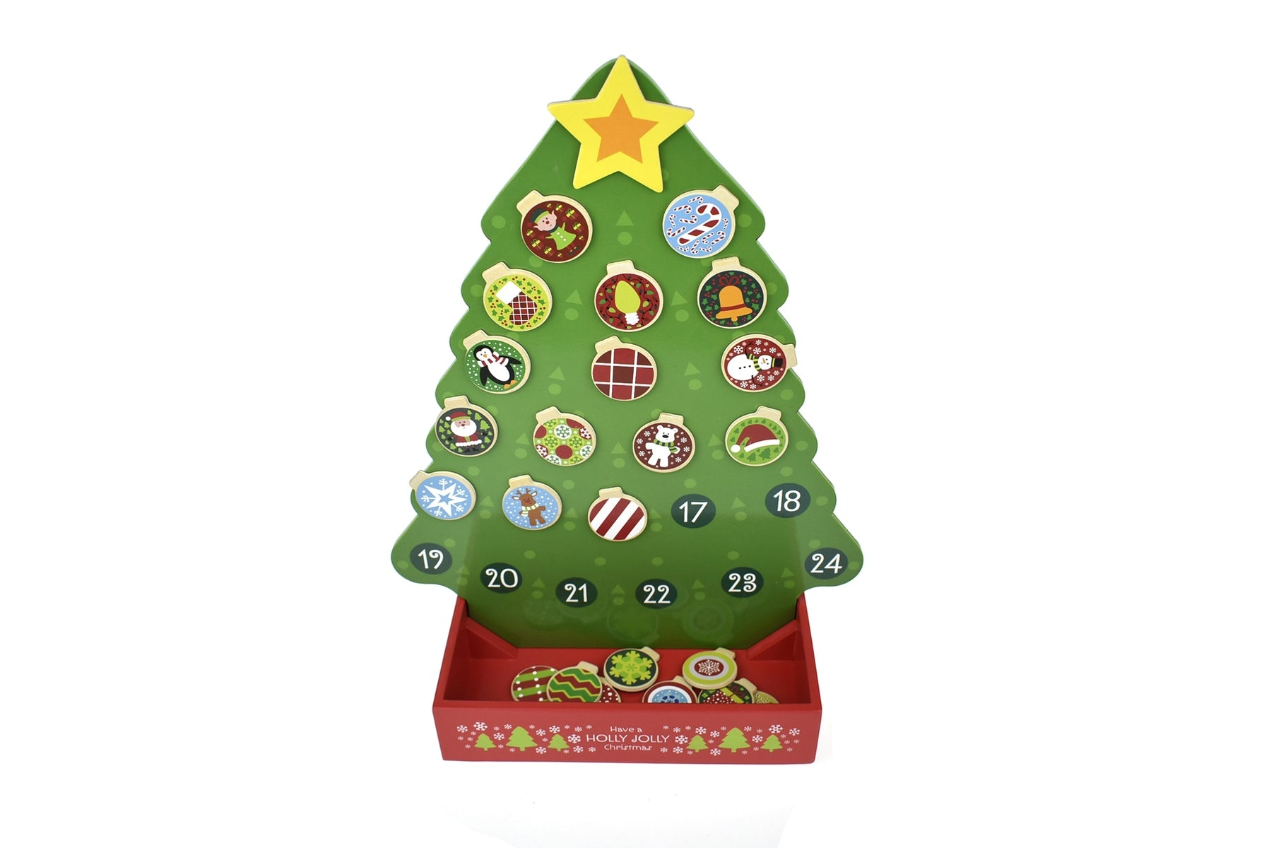 Tooky Toy - Wooden Christmas Tree Advent Calendar 2