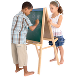 Wooden Easel with Chalkboard and Whiteboard