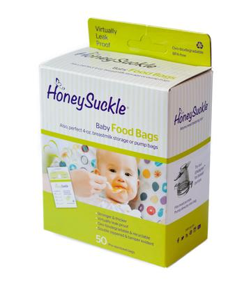 Honeysuckle milk/food storage bags 4-oz