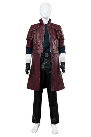 DMC5 Devil May Cry V Dante Aged Cosplay Kostüm Mantel Rot