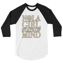Load image into Gallery viewer, Adult NOLA Girl State of Mind Two Tone Shirt (3/4 Sleeve)