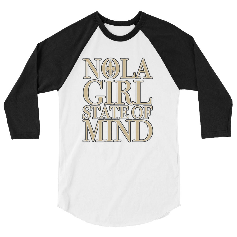 Adult NOLA Girl State of Mind Two Tone Shirt (3/4 Sleeve)