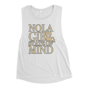 Ladies' NOLA Girl State of Mind Muscle Tank