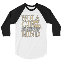 Load image into Gallery viewer, Adult NOLA Girl State of Mind (LA) Two Tone Shirt (3/4 Sleeve)