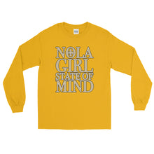 Load image into Gallery viewer, Adult NOLA Girl State of Mind T-Shirt (LS)