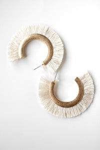 Grace Tassel Hoops