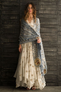 Off-White Color Salwar Kameez For Party FF1026