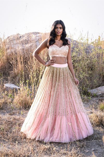 Baby Pink Color Embroidered Fully Designer Lehenga Choli FF1805