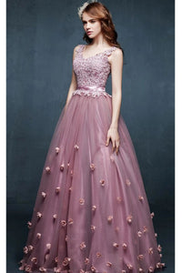 Pink Color Attractive Party Wear Designer Embroidered Gown FFSK-2054