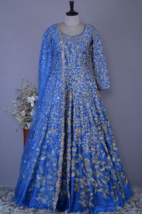 Exclusive Designer Beautiful Navy Blue Bridal Anarkali Suit FF1777