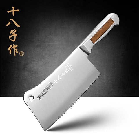 SHIBAZI 7-inch Stainless Steel Heavy Duty Chinese Cleaver Knife