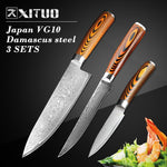 "XITUO 6 ""inch vg10 damascus steel chef knife"