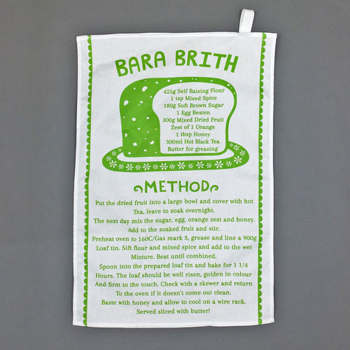Bara Brith Recipe Tea Towel