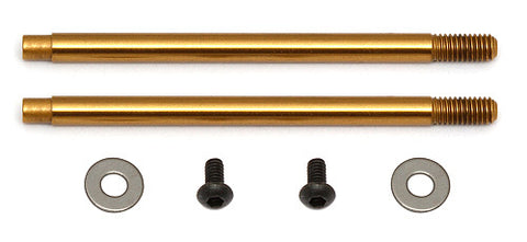 Team Associated 3x27.5 mm Shock Shafts (V2), TiN Ass91619
