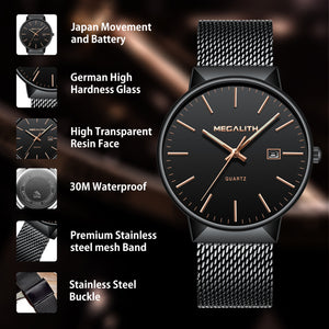 0090M | Quartz Men Watch | Mesh Band
