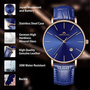 8030M | Quartz Men Watch | Leather Band