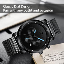 8021M | Quartz Men Watch | Mesh Band