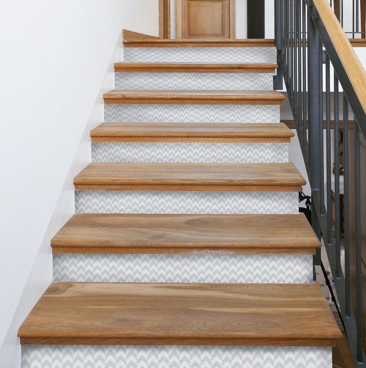 Herringbone Stair Riser Decals