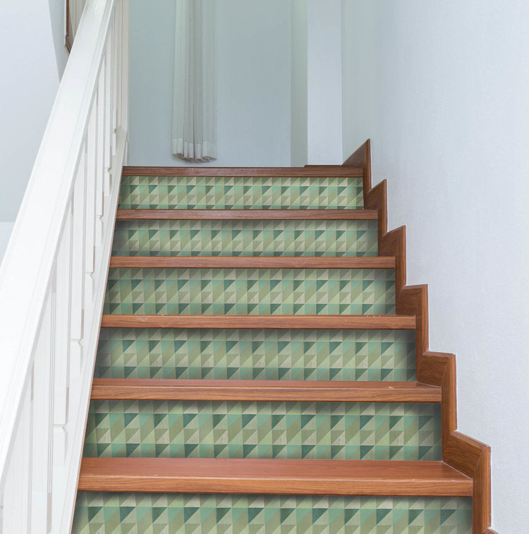 Lively Mint Stair Riser Decals