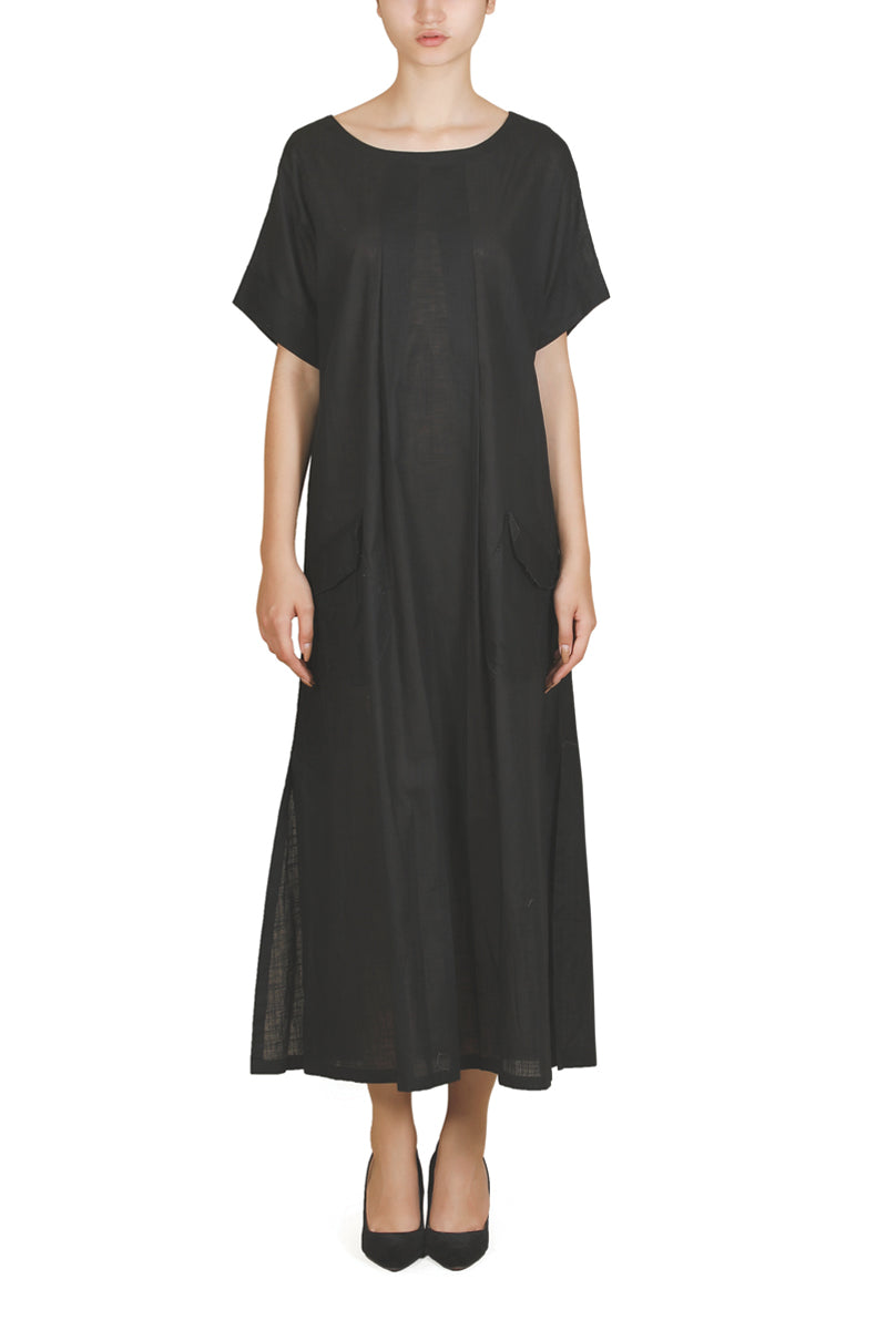 Collared Ankle-Length Dress