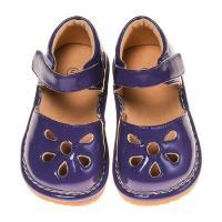 CLOSEOUT SALE! Leather Toddler Girl's Purple Paten Petal Squeaky Shoes
