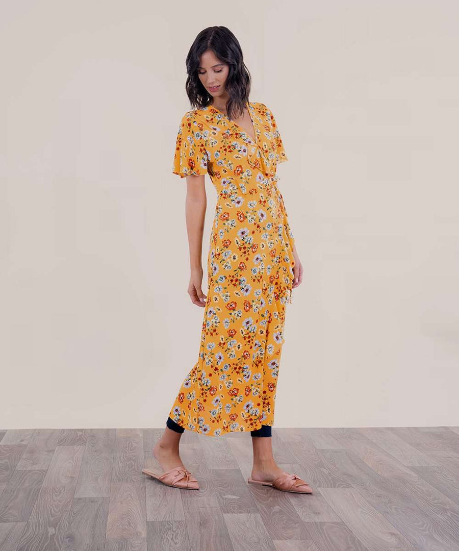 Wrap It Up Midi Dress-Speechless