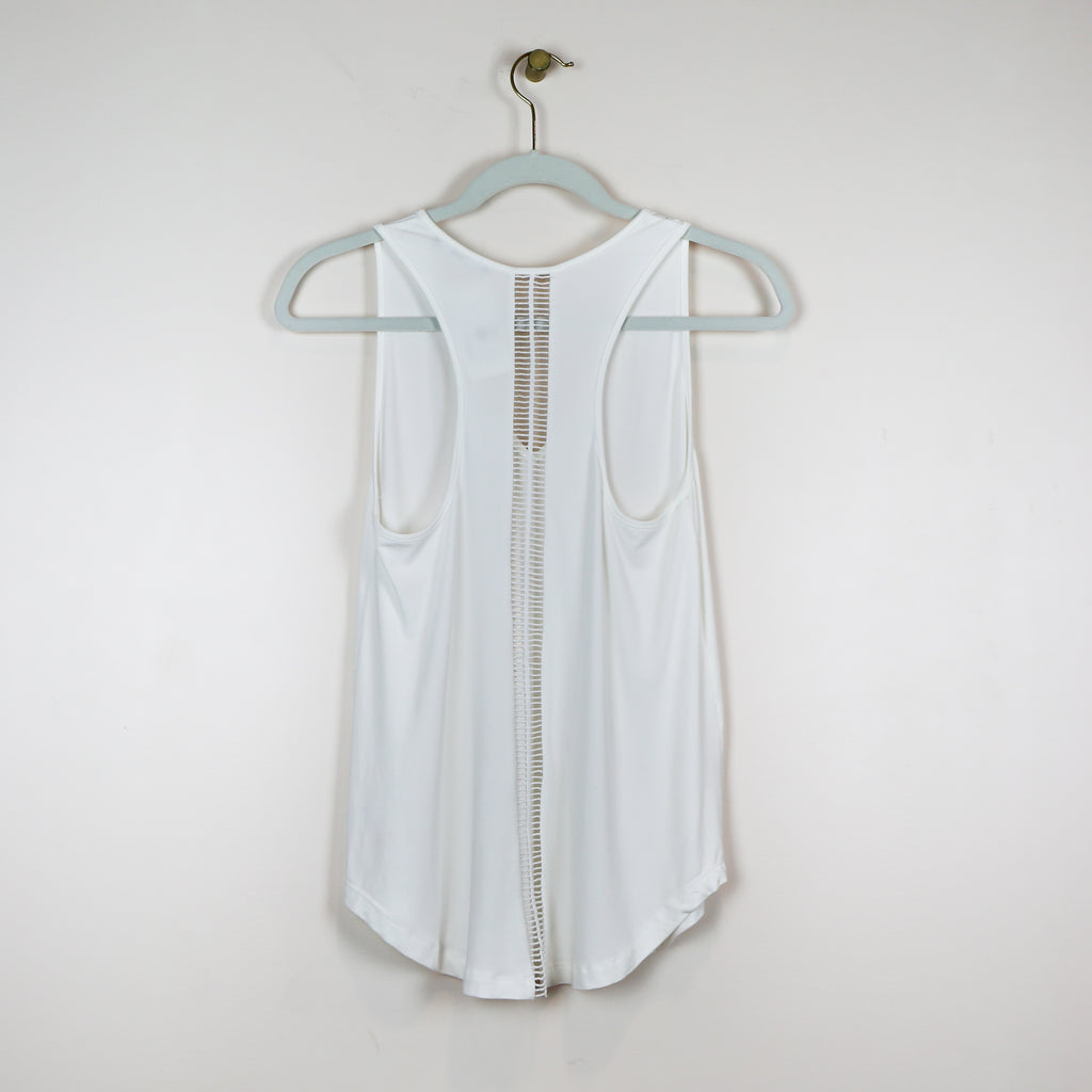 White Tank with Cut-Out Back