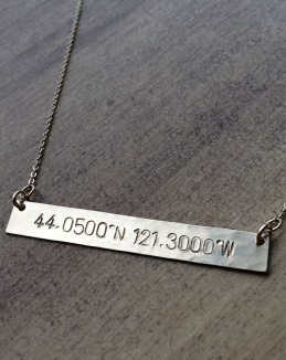 Classic Bar Coordinates Necklace