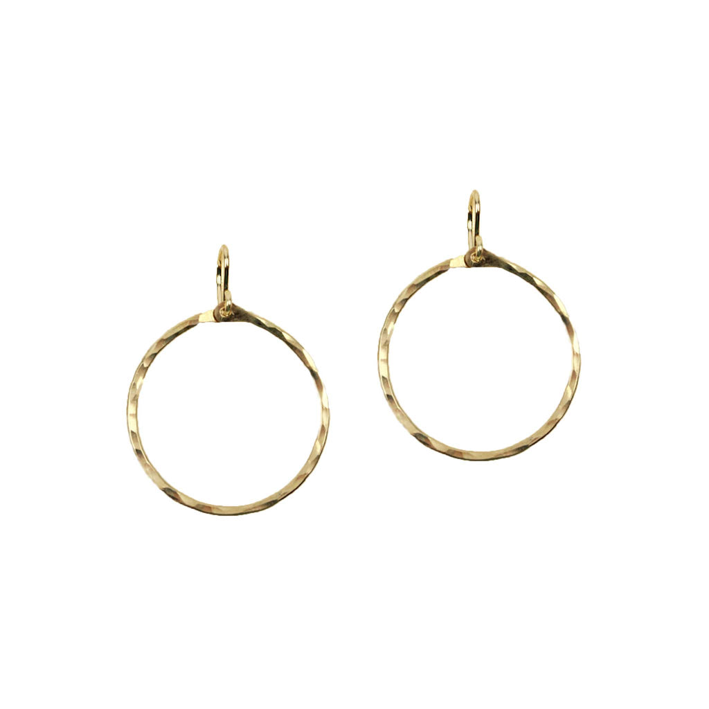 Hammered Signature Small Hoops Earrings