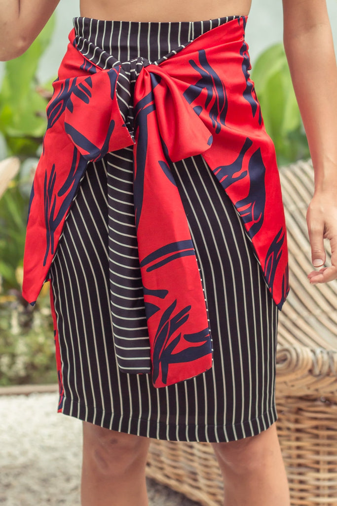 Amary Reversible Skirt - Red
