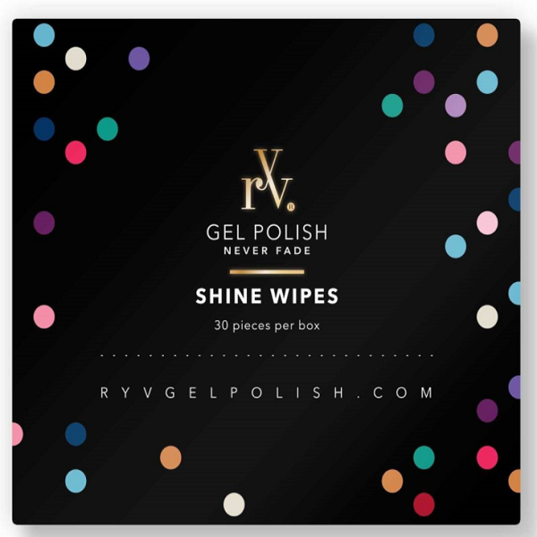 RYV Prep & Shine Wipes | Isopropyl Alcohol Nail Wipes | Use To Cleanse, Prep & Finish (Remove Sticky Residue) Your Gel Manicure | Pack Contains Enough Wipes For 30 Manicures | Salon Tested & Approved