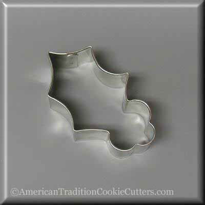 "3"" Holly Leaf Metal Cookie Cutter-americantraditioncookiecutters"