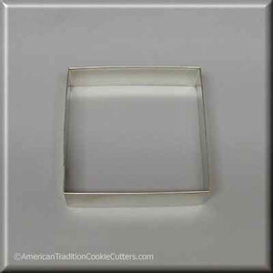 "3.5"" Square Biscuit Metal Cookie Cutter-americantraditioncookiecutters"