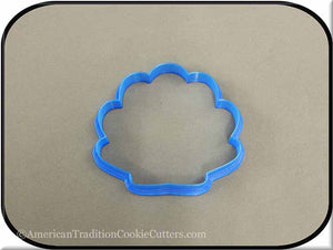 "3.5"" Seashell 3D Printed Plastic Cookie Cutter-americantraditioncookiecutters"