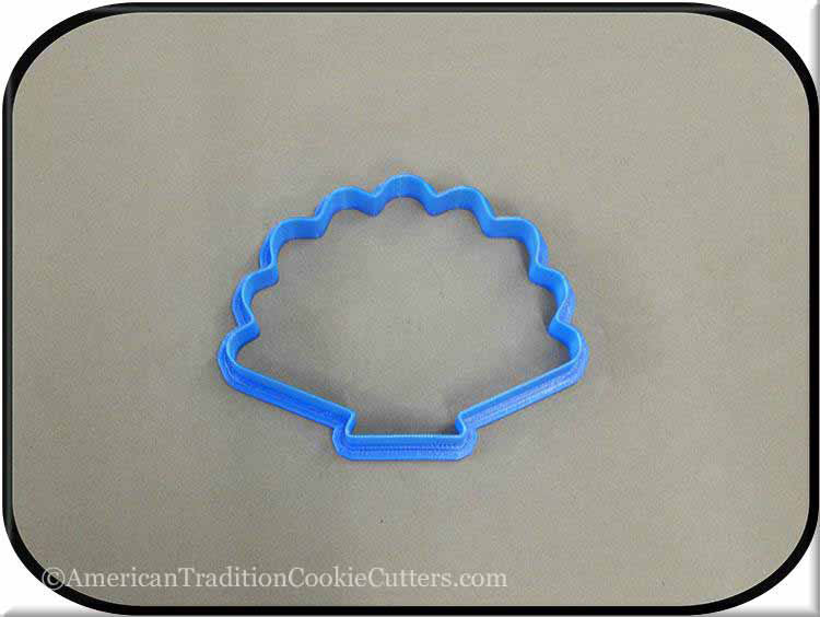 "4"" Seashell 3D Printed Plastic Cookie Cutter-americantraditioncookiecutters"