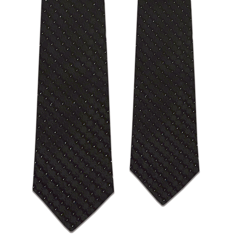 Father and Son Black/Silver Matching Tie